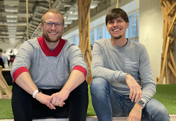 Die beiden Gründer Thomas Funke und Christian Rebernik.